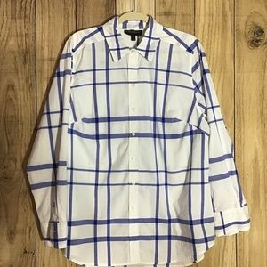 Lane Bryant women's size 16 white and blue shirt